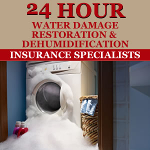 24 Hour Water Damage Restoration Carpet Cleaning Services